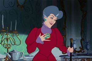 Lady Tremaine, the wicked stepmother archetype, would often ostracize Cinderella and put her to hard labor. Her two biological daughters, however, were favored and excepted from chores and harsh words. (c) Disney