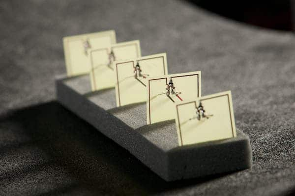 This five-cell metamaterial converts stray microwave energy, as from a WiFi hub, into more than 7 volts of electricity with an efficiency of 36.8 percent—comparable to a solar cell. (c) Duke University