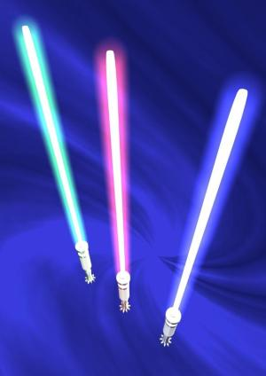 """Photonic molecules"" behave less like traditional lasers and more like something you might find in science fiction -- the light saber. (Credit: © Yana / Fotolia)"