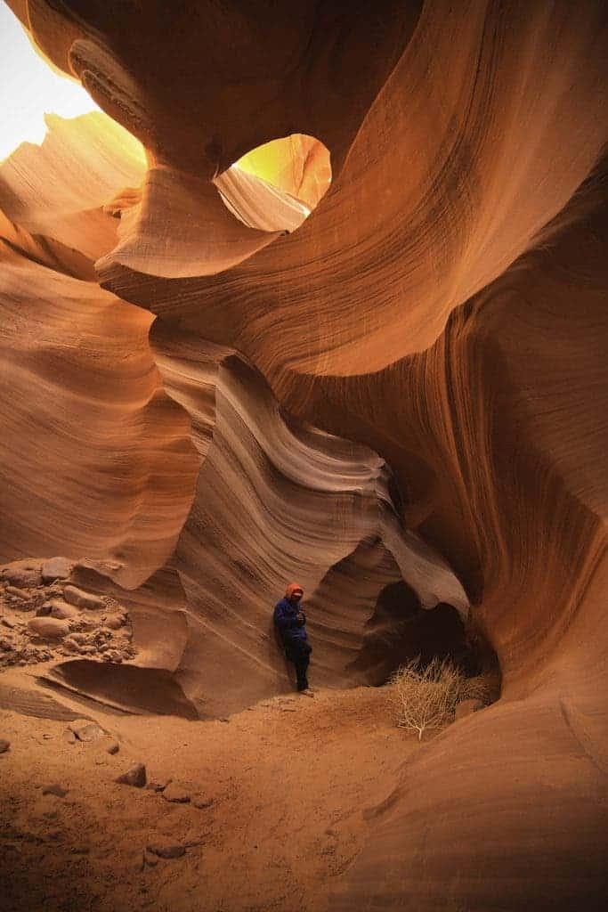 Antelope Canyon - wind erosion, geology image.