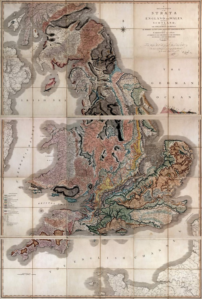 Geological map of Britain.