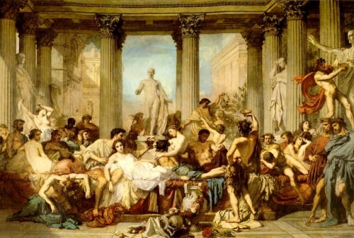 Artistic representation of the Saturnalia.