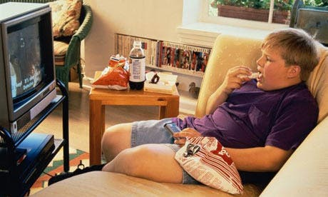 Study suggests that children in homes with stressed parents are more likely to gain weight. Photo courtesy of The Guardian