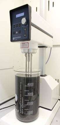 The industrial blender Trinity College Dublin  researchers used to produce graphene flakes. They claim a regular 400 W kitchen blender can be used too. Photo: CRANN.