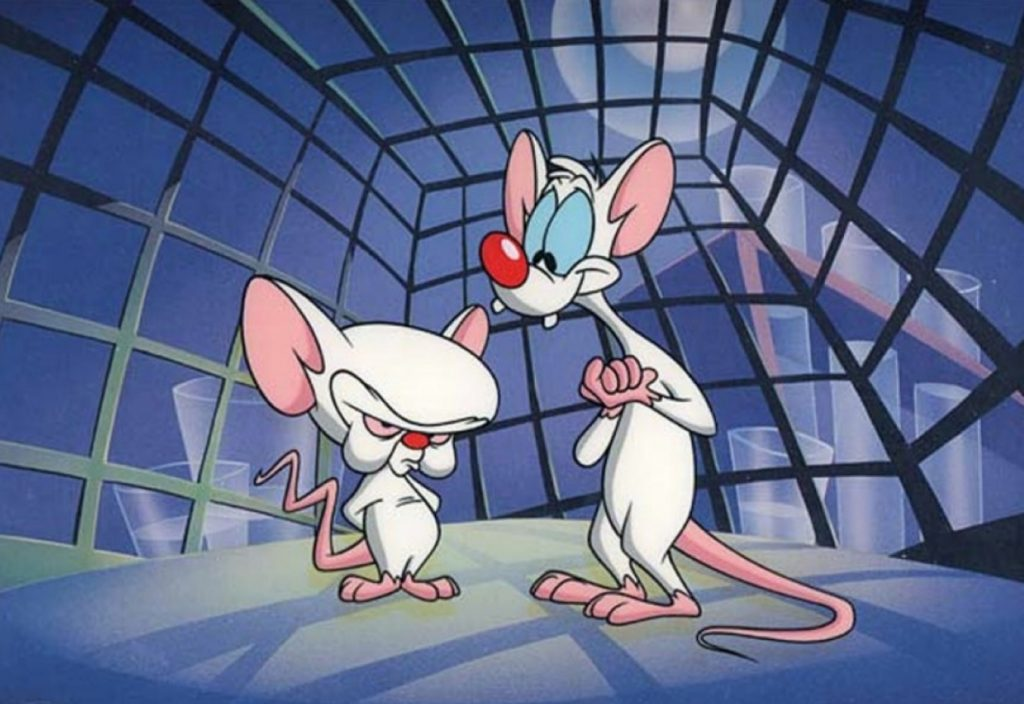 "Security camera screenshot attached in the WikiLeaks report shows mutant supermice leader, El Rato (left), along with MX-1-453, known as ""Pinky"" - the only mutant that doesn't seem to show any particular superpower. (c) WikiLeaks"
