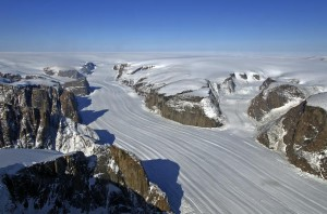 An IceBridge survey target in southwest Greenland. (Michael Studinger/NASA)