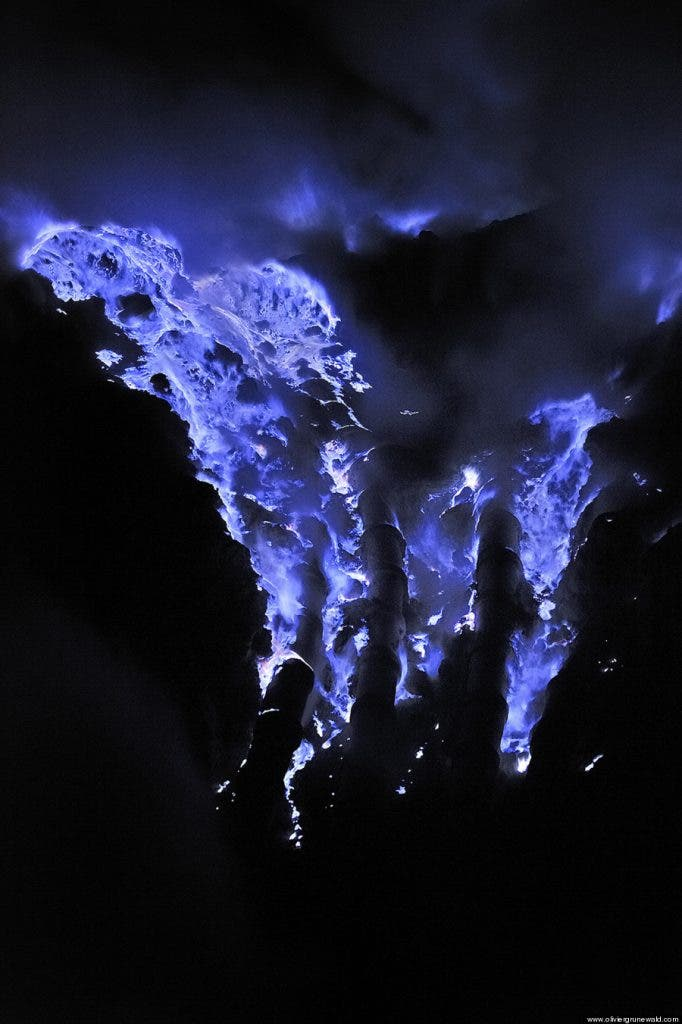 lava volcano volcano in ethiopia is spewing out blue lavasort of