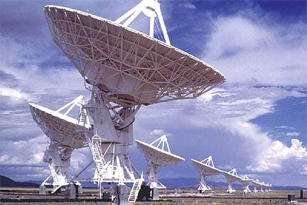 SETI's Alien Telescope Array (ATA) listens day and night for a signal from space (SETI)  Read more: http://www.universetoday.com/95409/aliens-dont-want-to-eat-us-says-former-seti-director/#ixzz32ouVKYsE
