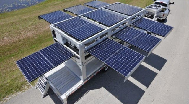 The Powercube Disaster Relief Solar System Serves
