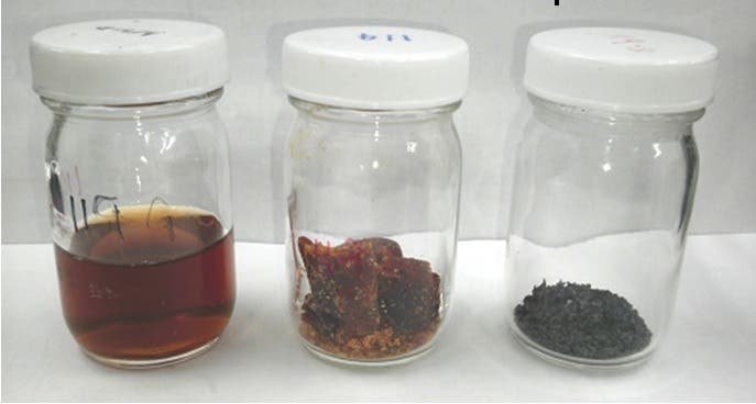 Gel, dried gel, and powder form of the synthesized battery material with extremely long cycle life.