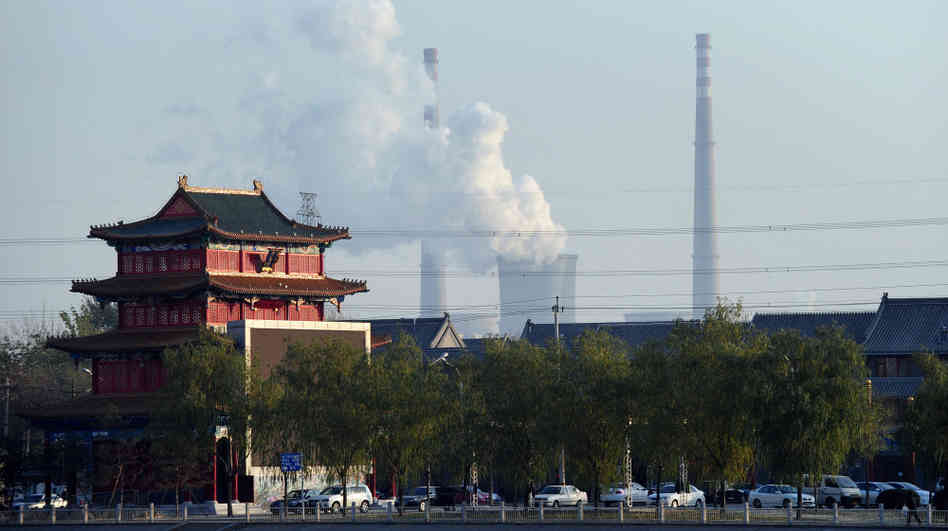 coal plant China Beijing.