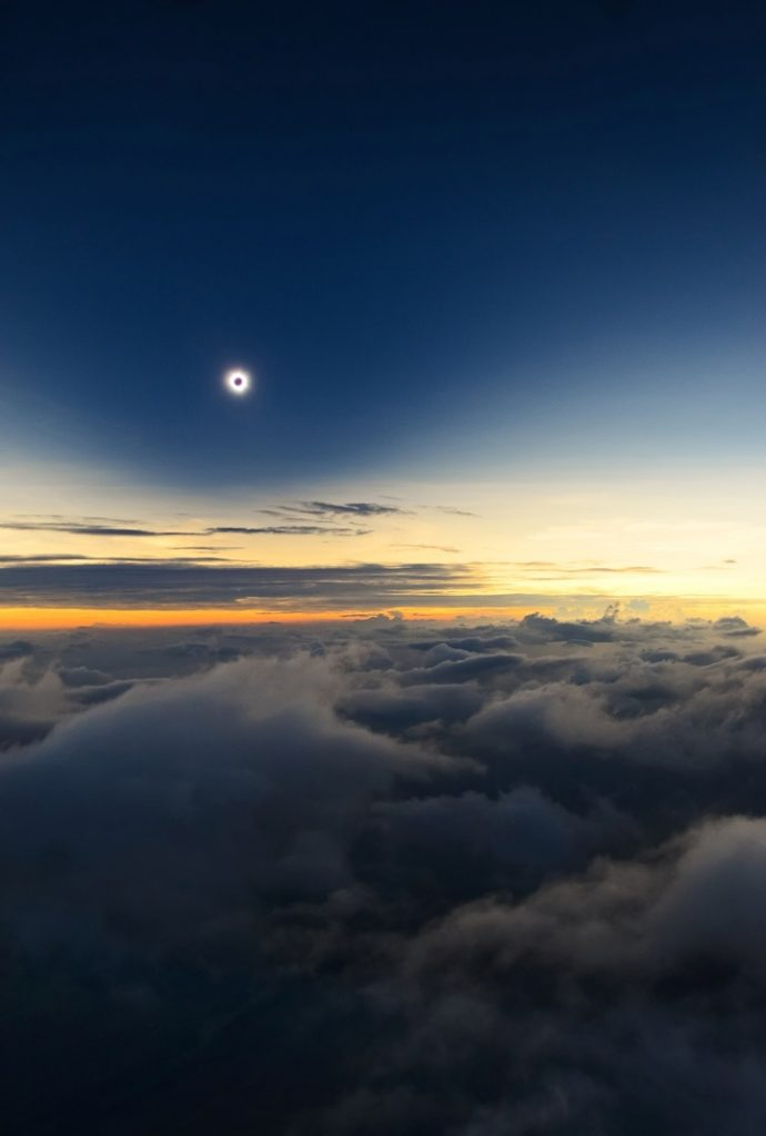 Totality from Above the Clouds by Catalin Beldea (Romania)