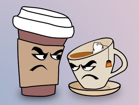 Tea vs coffee. A new study suggests coffee increases risk of non-cardiovascular mortality, while tea reduces these risks. Image: life-cafe.co.za