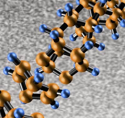 Close-up of the diamond nanothread structure. Image: Penn State University