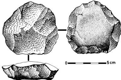 Levallois Core from the Douro Basin, Portugal. José-Manuel Benito Alvarez