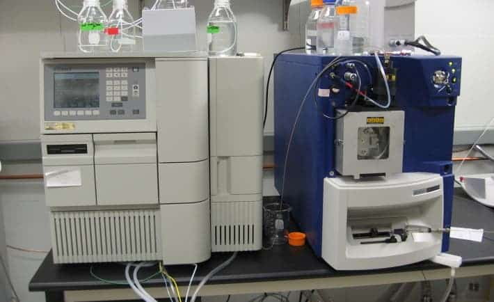 This is actually considered a small-scaled mass spectrometer. MIT researchers hope they make mass spectrometers that are small enough to hold in your hand. Making these sort of devices portable could have important consequences for field work.