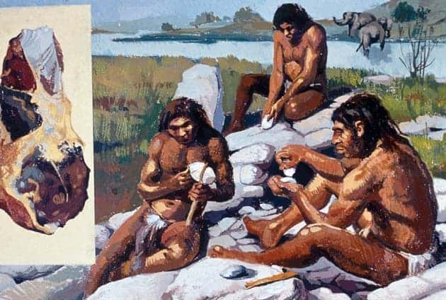 Neanderthals were one of the early hominids who used  Levallois technique to make stone tools. Image: Prisma/UIG/Getty