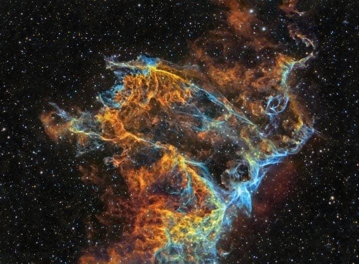 Veil Nebula Detail (IC 340) by J P Metsävainio (Finland)