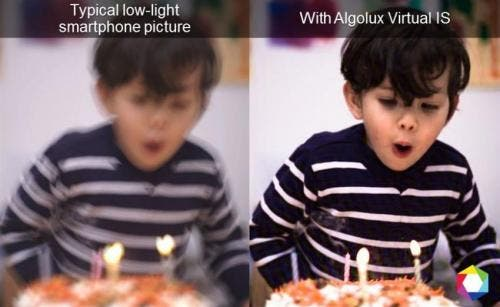A software corrects blur and makes photos taken with the same smartphone a lot clearer and sharper. The technology allows for lens designs to be less complex, smaller, lighter and cheaper. Image: Algolux