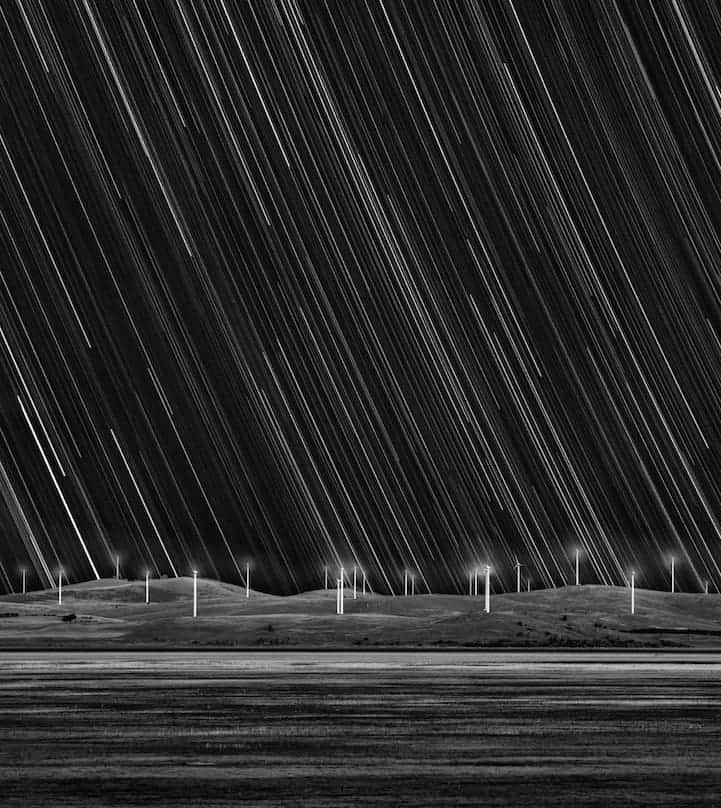 Wind Farm Star Trails by Matt James (Australia)