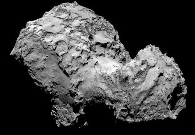 Comet 67P/Churyumov-Gerasimenko. Credit: AFP/ESA/Rosetta/MPS
