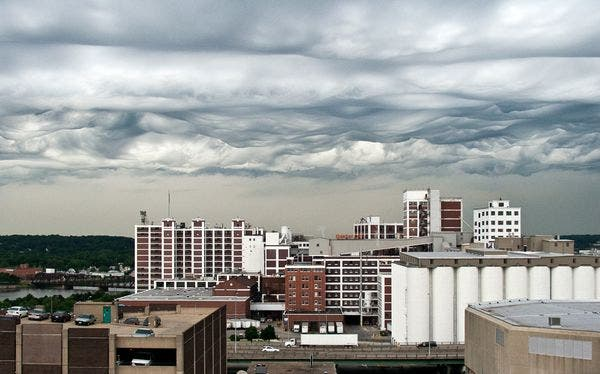 Choppy clouds over Cedar Rapids, Iowa, in an undated picture. Photo: Jane Wiggins