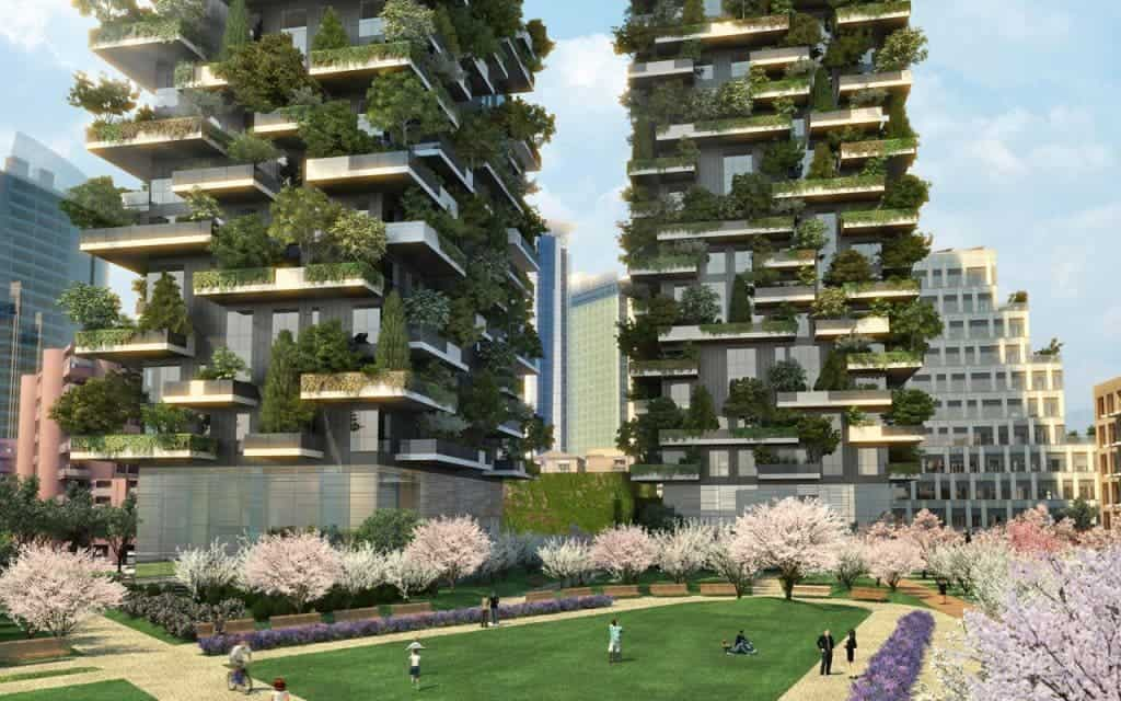 World 39 s first vertical forest is finally complete in milan for Design city milano