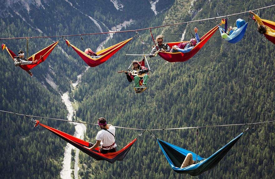 mountain slackline festival