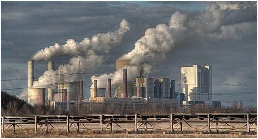 coal plant flue gas