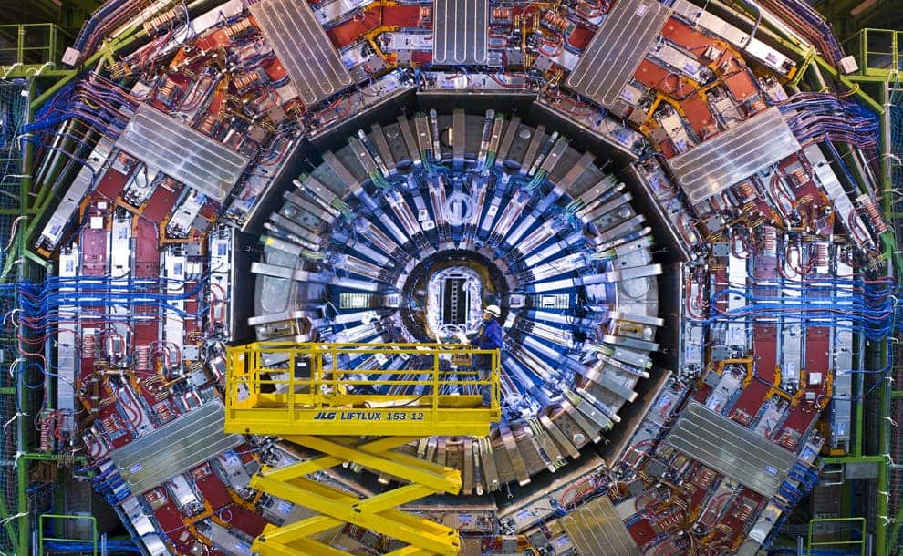 View of the CMS detector at the end of 2007. (Maximilien Brice, © CERN)