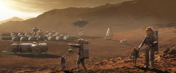How a Mars colony might look like. Photo: NASA