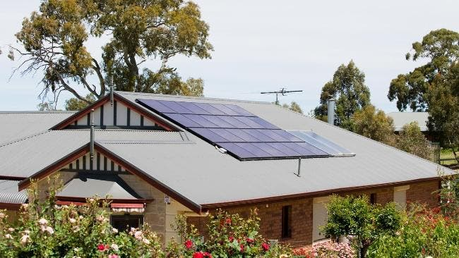 A typical Australian home powered by rooftop solar panels. Image: AdelaideNow