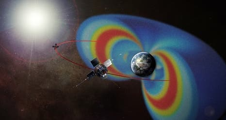 The Van Allen Probes (formerly known as the Radiation Belt Storm Probes (RBSP)) were designed to help us understand the sun's influence on Earth and near-Earth space by studying the Earth's radiation belts on various scales of space and time. Image: NASA