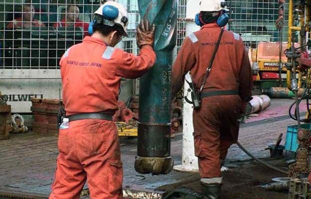 The monster drill used to bore deep into the crust. Image:  IODP Expedition