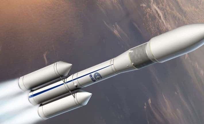 The two booster version of the Ariane 6 rocket. Science ministers from all the ESA member states will meet tomorrow to discuss its future. Image: ESA