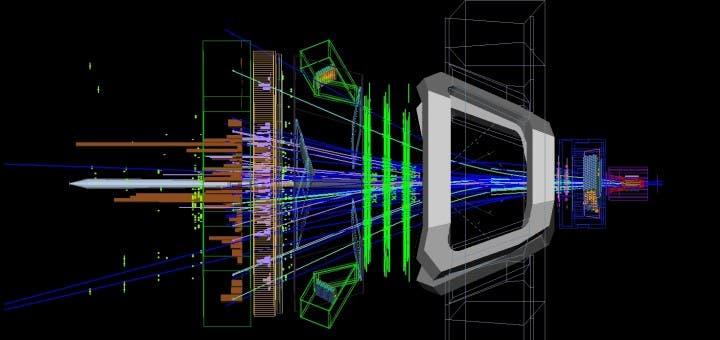 LHC collision baryon