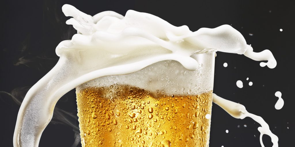 Foam gushing off a pint - you either love it or hate it. Credit: