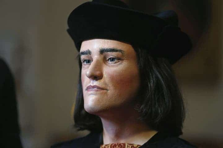 Reconstruction of King Richard III's face, based on the skull found buried underneath a central England parking lot. Photo: Andrew Winning / REUTERS