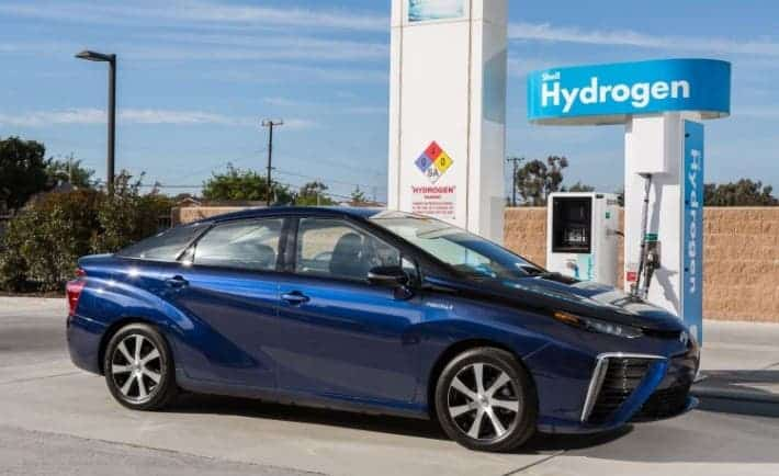 The latest Toyota hydrogen car, the Mirai. Image: Toyota