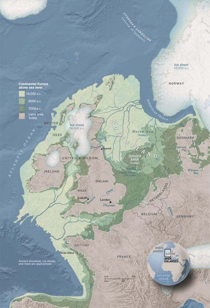 Pre Ice Age World Map.Doggerland The Land That Connected Europe And The Uk 8000 Years Ago