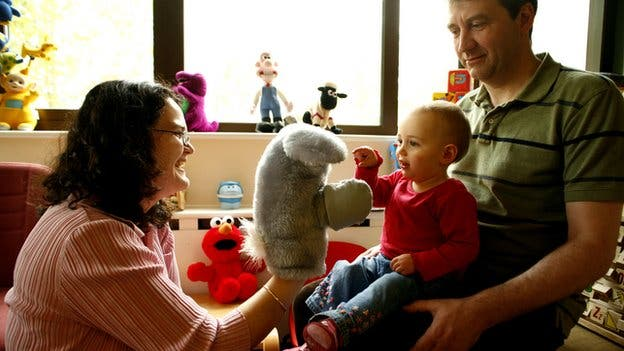 Dr Jane Herbert and colleagues taught infants new tasks with the help of puppets. Image: Herbert