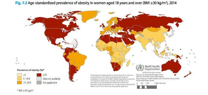 Obesity Rate In Areas With Fast Food