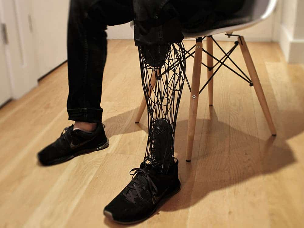 The model can be 3-D printed with  titanium or steel, making it lightweight and durable. Image: William Root