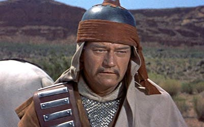 Yes, even John Wayne was a descendant of the great Khan. </sarcasm>. Image: The Shiznit