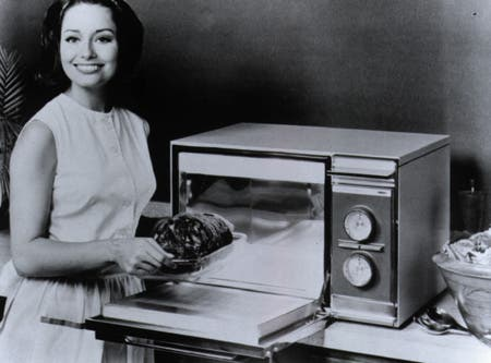 Introduced in 1967, the Amana Radarange microwave oven would forever change the way American families prepare meals. Image: SMECC