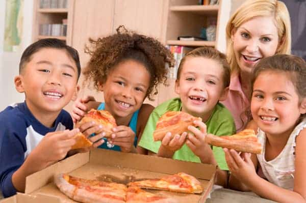 Kids might love pizza, but it sure isn't healthy when served consistently. Nutritionists believe pizza and sugary drinks are the prime enemies in the fight against obesity, particularly in children. Image: Papa John