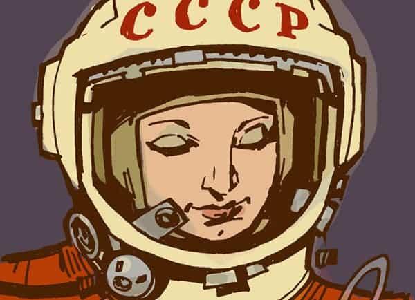 Sketch of Valentina Tereshkova by Phillip J Bond.