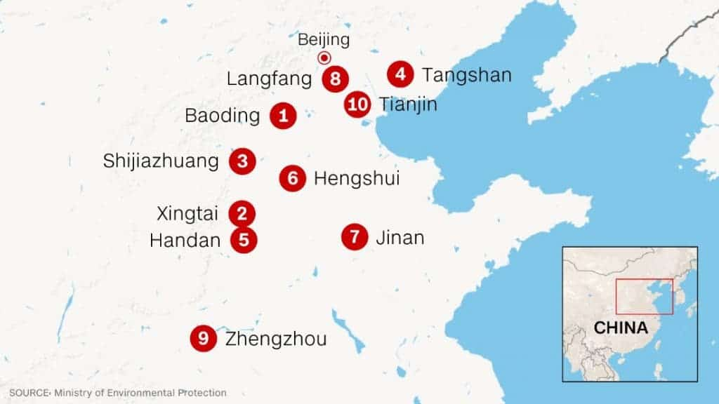Only 8 Big Cities In China Meet Air Quality Requirements