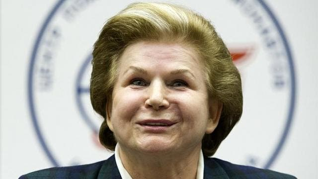 Russian cosmonaut Valentina Tereshkova, the first woman to go to space, attends a news conference in Star City outside Moscow on Friday, June 7, 2013. Ms Tereshkova said  that she was ready to score another coup and fly to Mars, even if it would be just a one-way trip. -- PHOTO: REUTERS