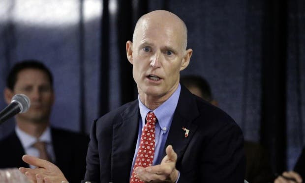 Rick Scott, arguably the worst US governor in history. Photo: Chris O'Meara/AP